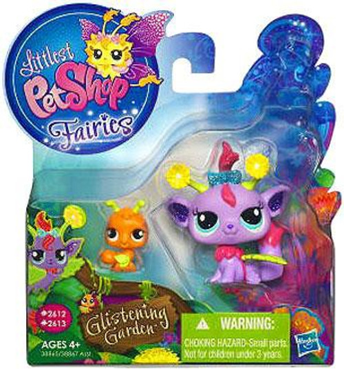 Littlest Pet Shop Fairies Glistening Garden Daisy Fairy & Ant Figure 2-Pack #2612, 2613