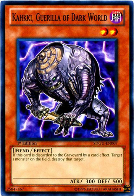 YuGiOh 5D's Structure Deck: Gates of the Underworld Common Kahkki, Guerilla of Dark World SDGU-EN007