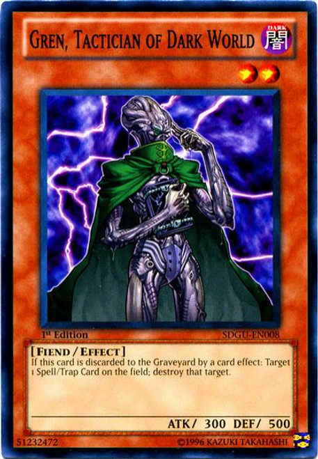 YuGiOh 5D's Structure Deck: Gates of the Underworld Common Gren, Tactician of Dark World SDGU-EN008