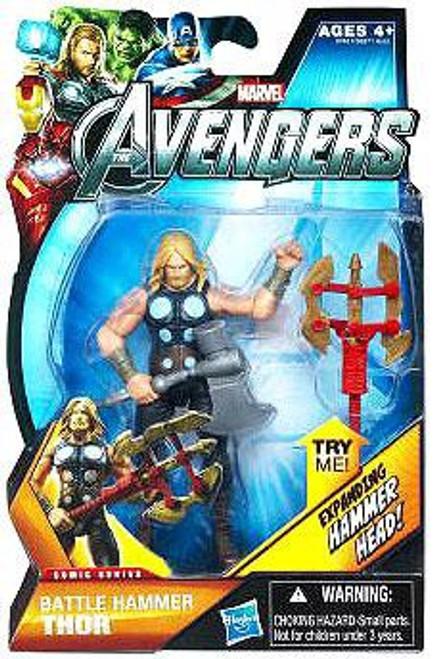 Marvel Avengers Comic Series Battle Hammer Thor Action Figure