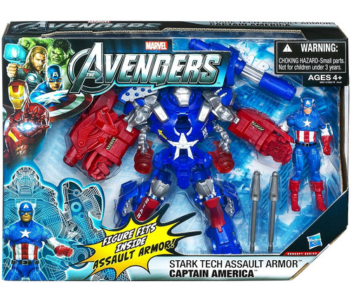 Marvel Avengers Movie Series Stark Tech Assault Armor Captain America Action Figure