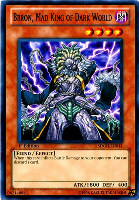 YuGiOh 5D's Structure Deck: Gates of the Underworld Common Brron, Mad King of Dark World SDGU-EN011