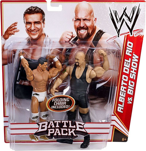 WWE Wrestling Series 16 Alberto Del Rio vs. Big Show Action Figure 2-Pack [Folding Chair]