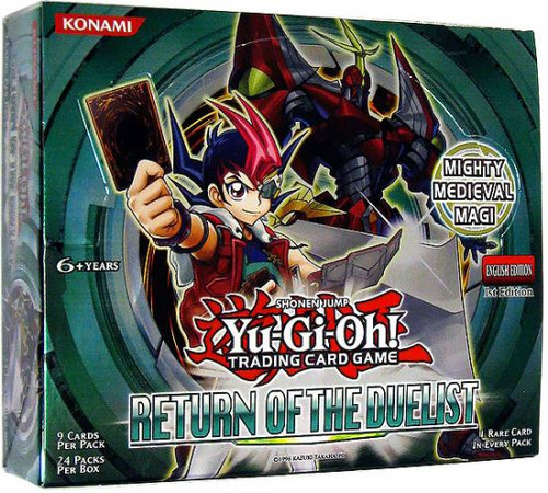 YuGiOh Return of the Duelist Booster Box [24 Packs] [Sealed]
