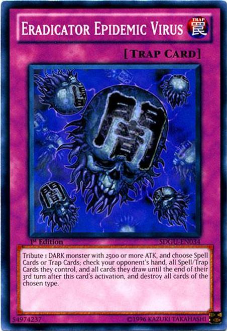 YuGiOh 5D's Structure Deck: Gates of the Underworld Common Eradicator Epidemic Virus SDGU-EN034
