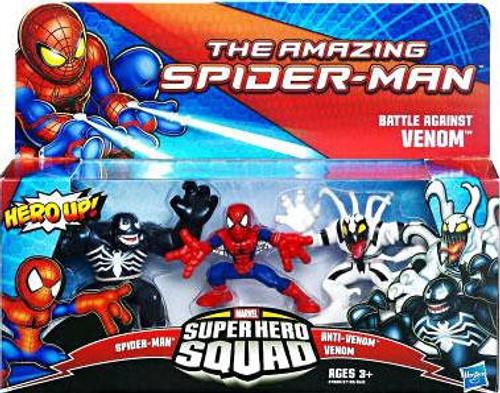 The Amazing Spider-Man Super Hero Squad Battle Against Venom Mini Figure 3-Pack