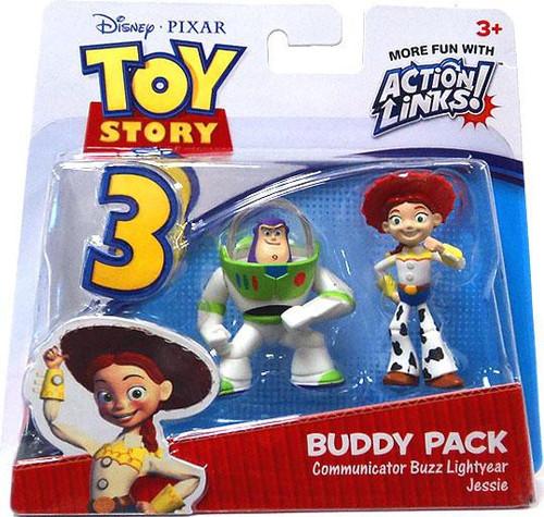 Toy Story 3 Action Links Buddy Pack Communicator Buzz Lightyear & Jessie Mini Figure 2-Pack