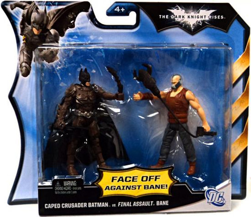 The Dark Knight Rises Caped Crusader Batman Vs. Final Assault Bane Action Figure 2-Pack