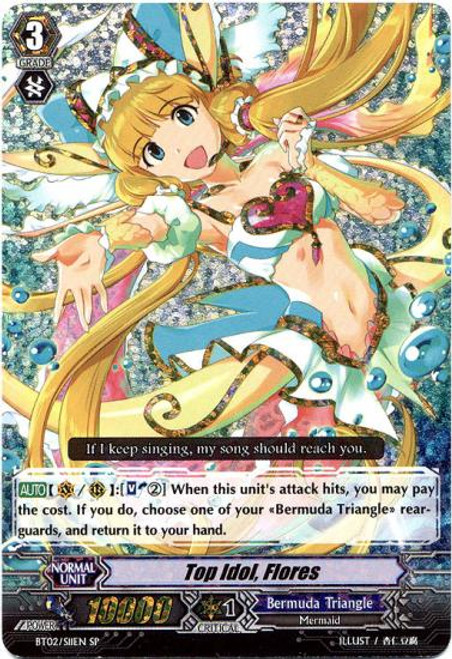 Cardfight Vanguard Onslaught of Dragon Souls SP Top Idol, Flores BT02-020