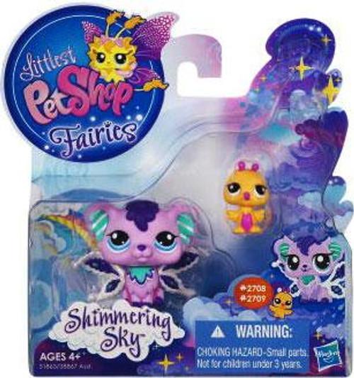 Littlest Pet Shop Fairies Shimmering Sky Sprinkle Fog Fairy & Humming Bird Figure 2-Pack #2708, 2709