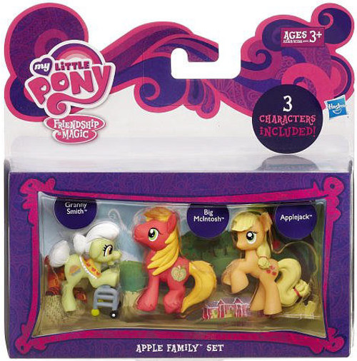 My Little Pony Friendship is Magic Character Collection Sets Apple Family Figure Set