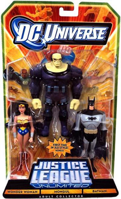 DC Universe Justice League Unlimited Wonder Woman, Mongul & Batman Exclusive Action Figure