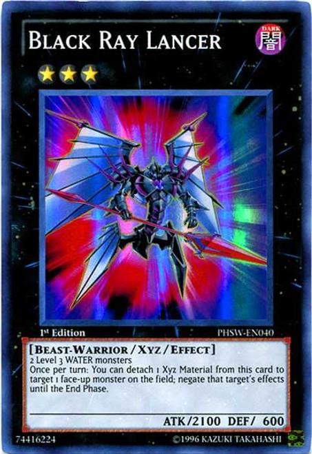 YuGiOh Zexal Photon Shockwave Super Rare Black Ray Lancer PHSW-EN040