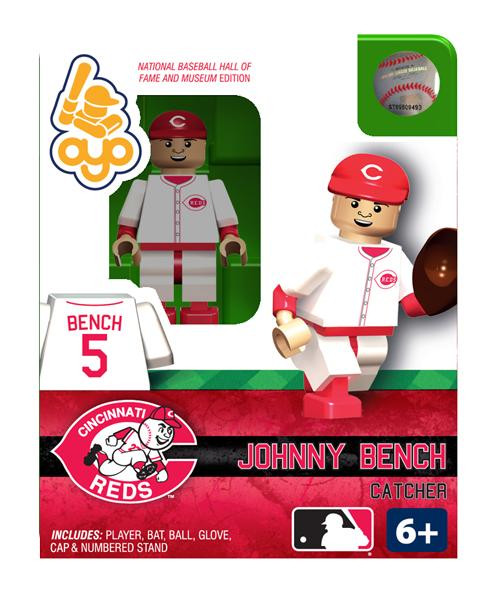 Cincinnati Reds MLB Hall of Fame Johnny Bench Minifigure