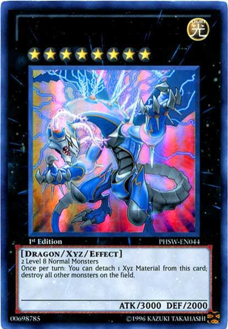 YuGiOh Zexal Photon Shockwave Ultra Rare Thunder End Dragon PHSW-EN044