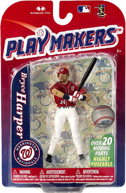 McFarlane Toys MLB Washington Nationals Playmakers Series 4 Bryce Harper Action Figure