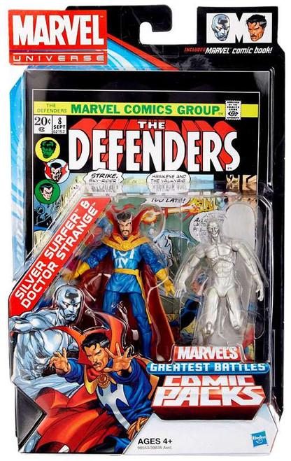 Marvel Universe Marvel's Greatest Battles Comic Packs Silver Surfer & Doctor Strange Exclusive Action Figure 2-Pack