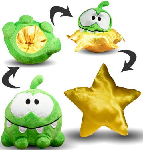 Cut the Rope Reversible Om Nom 6-Inch Plush [Star]