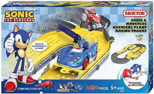 Sonic The Hedgehog Sonic & Knuckles Chemical Plant Racing Tracks Construction Set #8600