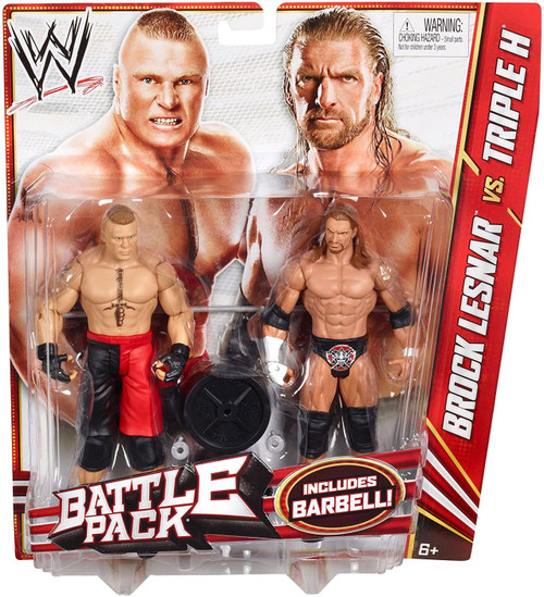 WWE Wrestling Series 20 Brock Lesnar vs. Triple H Action Figure 2-Pack [Barbell]