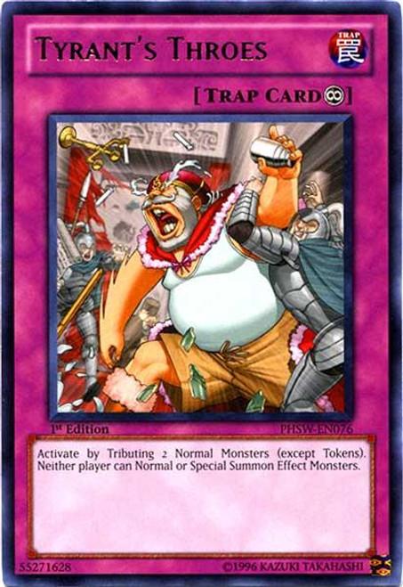 YuGiOh Zexal Photon Shockwave Rare Tyrant's Throes PHSW-EN076