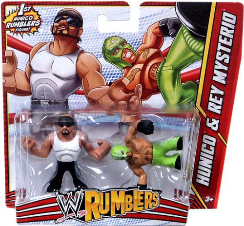 WWE Wrestling Rumblers Series 3 Hunico & Rey Mysterio Mini Figure 2-Pack