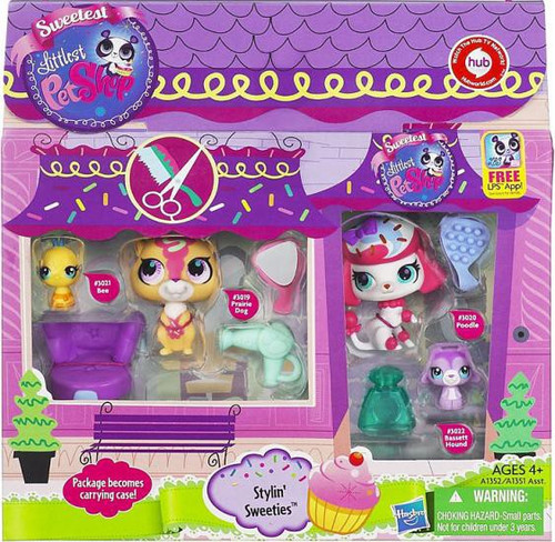 Littlest Pet Shop Stylin Sweeties Figure Set