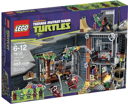 LEGO Teenage Mutant Ninja Turtles Turtle Lair Attack Set #79103