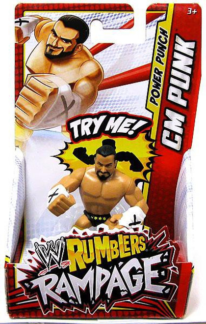 WWE Wrestling Rumblers Rampage CM Punk Mini Figure