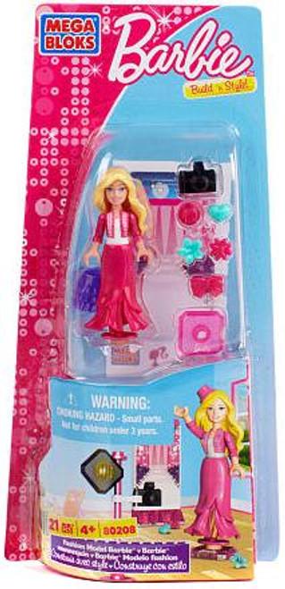 Mega Bloks Build 'n Style Fashion Model Barbie Set #80208