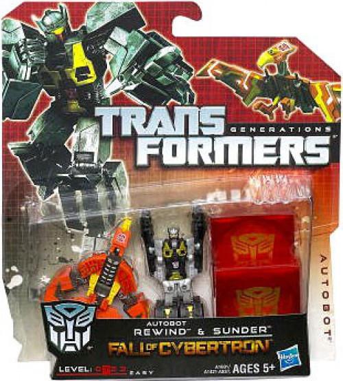 Transformers Generations Fall of Cybertron Deluxe Autobot Rewind & Sunder Legends Legends Mini Figure 2-Pack