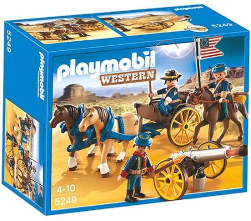 Playmobil Western Horse-Drawn Carriage & Cavalry Rider Set #5249