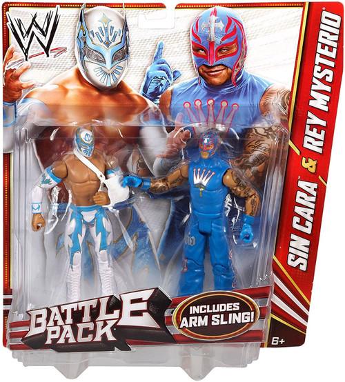WWE Wrestling Series 22 Sin Cara & Rey Mysterio Action Figure 2-Pack [Arm Sling]