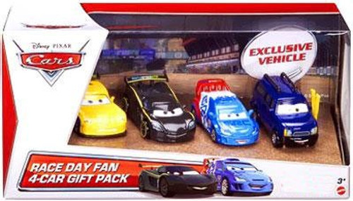 Disney Cars Multi-Packs Race Day Fan 4-Car Gift Pack Exclusive Diecast Car Set [Set #1]