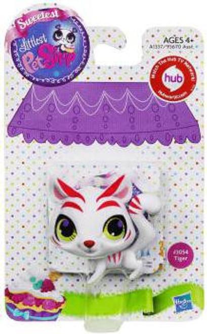 Littlest Pet Shop Sweetest Tiger Figure #3054 [White]