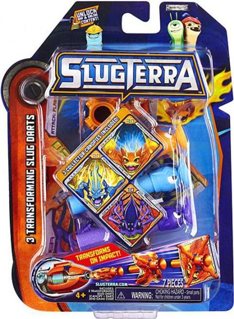 Slugterra Blaster & Evo Dart Transforming Slug Darts 3-Pack Exclusive [Burpy V1, Joules & Spinner]
