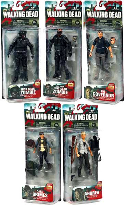 McFarlane Toys AMC TV Walking Dead TV Series 4 Set of 5 Action Figures