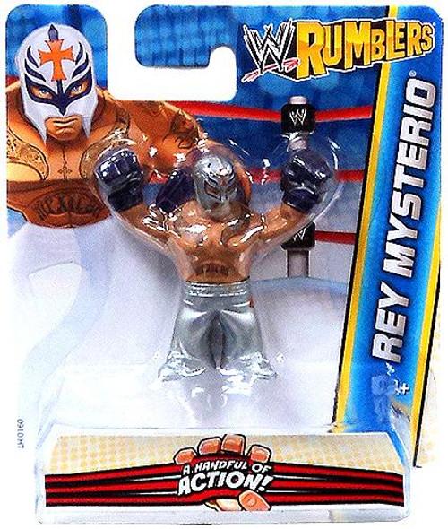 WWE Wrestling Rumblers Series 2 Rey Mysterio Mini Figure [Silver Outfit]