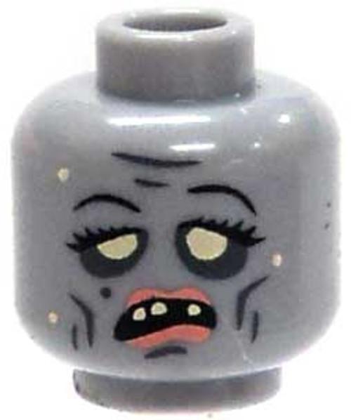 Citizen Brick Custom Printed Minifigure Parts Zombie with Lipstick Loose Head [Loose]