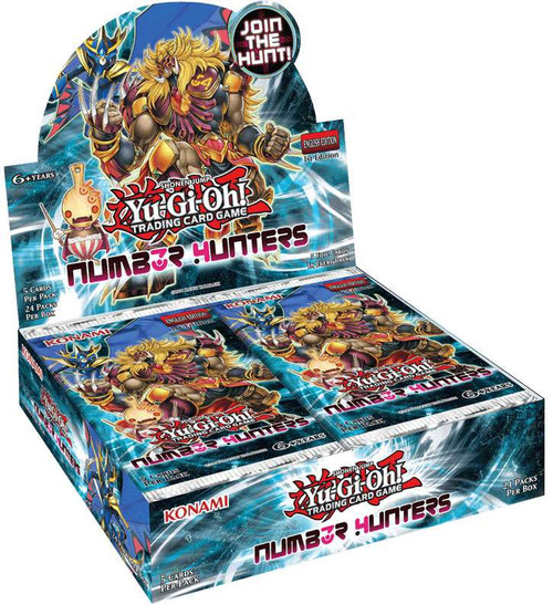 YuGiOh Number Hunters Booster Box [24 Packs] [Sealed]