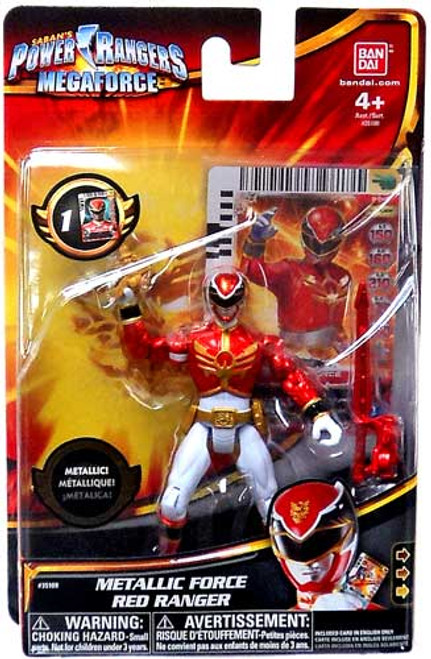 Power Rangers Megaforce Metallic Force Red Ranger Action Figure