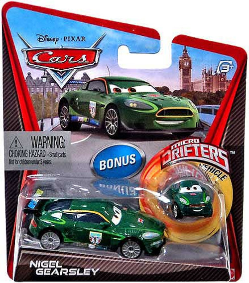 Disney Cars Micro Drifters Nigel Gearsley Diecast Car [With Micro Drifter]
