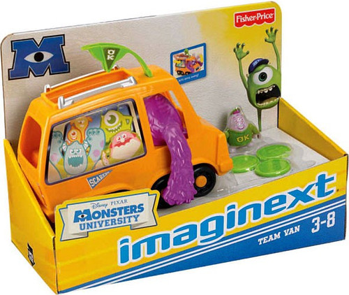 Fisher Price Disney / Pixar Monsters University Imaginext Team Van Exclusive 3-Inch Figure Set