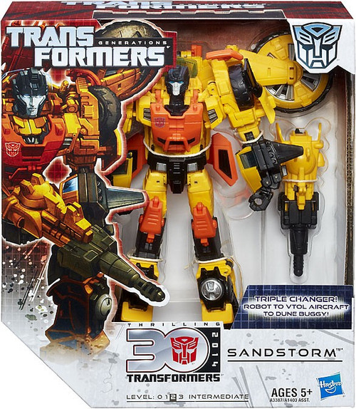 Transformers Generations 30th Anniversary Sandstorm Voyager Action Figure