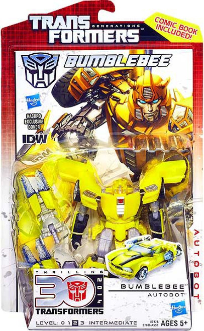Transformers Generations 30th Anniversary Deluxe IDW Bumblebee Gold Bug Deluxe Action Figure