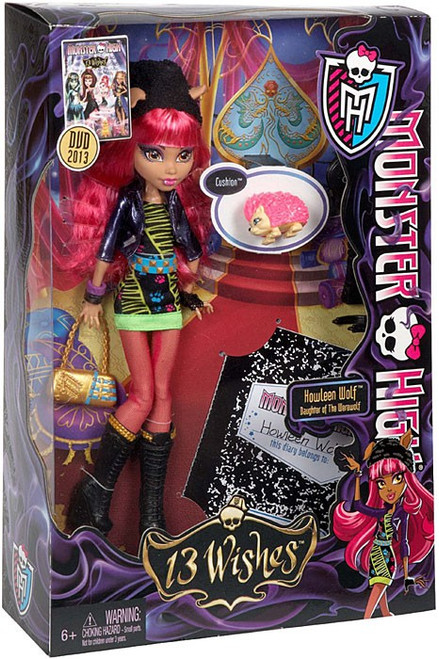 Monster High 13 Wishes Howleen Wolf 10.5-Inch Doll