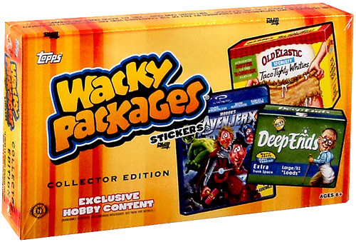 Wacky Packages Series 11 Trading Card Sticker Collector Box