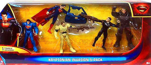 Superman Man of Steel Kryptonian Invasion Exclusive Action Figure 5-Pack