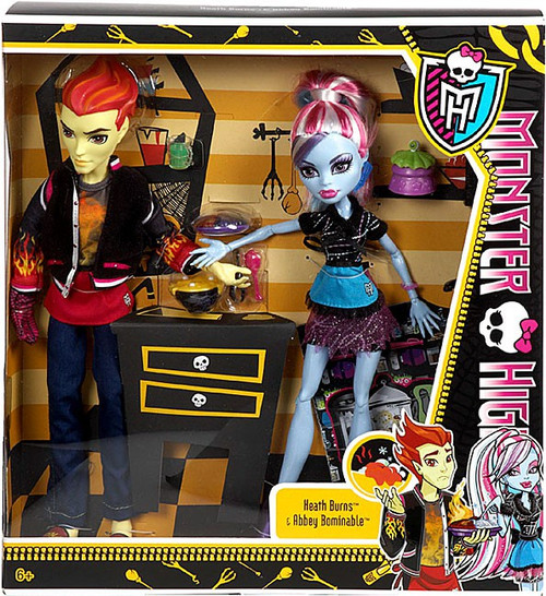 Monster High Classroom Home Ick Heath Burns & Abbey Bominable 10.5-Inch Doll 2-Pack