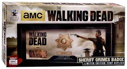 The Walking Dead AMC TV Rick Grimes Badge Prop Replica